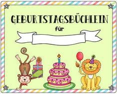Templates for a birthday booklet (Wunschaktion To the five-year anniversary Worte Sentence Writing, In Writing, Writing Bulletin Boards, Kindergarten Portfolio, Five Year Anniversary, Credit Card Application, Community Helpers, Word Problems, Classroom Management