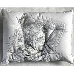 Portraits in pillows by Maryam Ashkanian @maryamashkanianstudio