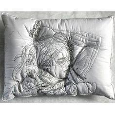 Portraits in pillows by Maryam Ashkanian @maryamashkanianstudio