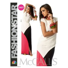 Top and Color Block Maxi Skirt Pattern McCalls 6755 Cap Sleeves Pattern Size 12 to 20 UNCUT