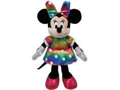 TY Minnie Mouse Knuffel Regenboog 35cm