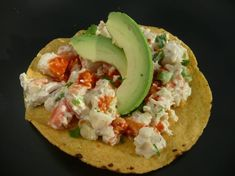 """Chicken Salad Tostadas *Similar to one we used to get at the """"La Fogata""""."""