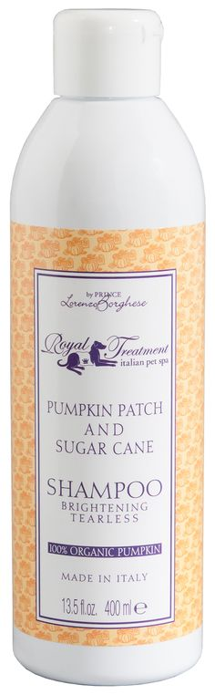 Royal Treatment's scrumptious Pumpkin Patch & Sugar Cane dog shampoo!  Made with real, 100% organic pumpkins!