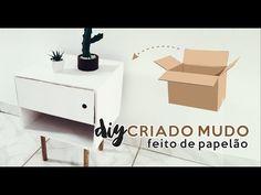 DIY CRIADO MUDO FEITO DE PAPELÃO | Mary Mattos - YouTube