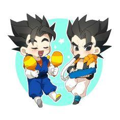 Gogeta And Vegito, Db Z, Kawaii, Goku, Dragon Ball Z, Chibi, Anime, Geek Stuff, Manga