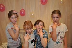 A few of the girls posing with there pretty nails