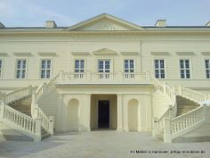DSL-Bankette 2014 Schloss Herrenhausen Hannover, Ansicht von den Herrenhäuser Gärten aus
