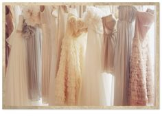 I love how unique all the dresses are yet they come together into a beautiful bridal & bridesmaid pallet