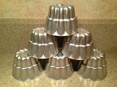 Set of 6 Vintage Aluminum Jello Molds by ForumFactotum on Etsy, $11.95