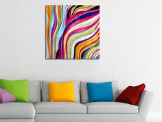 Kleurrijke zebra print.
