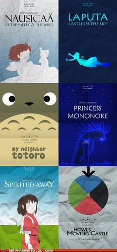 Miyazaki Minimalist Posters