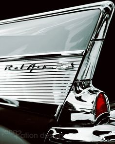8x10 Chevrolet Bel Air Fin Photo Print by JennRationDesign on Etsy, $25.00