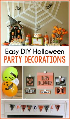 Easy DIY Halloween party decoration ideas to take your Halloween party from horrible to hauntingly great #DamageFreeDIY #ad
