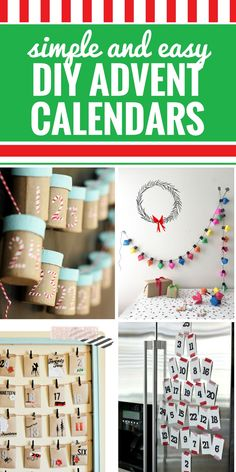Whether you prefer just to count down to Christmas, or you like to plant activities within your advent calendar, you're going to love these super simple and gorgeous DIY Advent Calendars. From no-sew to paper and envelope crafts and even mini trees, you will love these advent Christmas crafts (and your kids will too.) #advent #christmas #crafts #diy #kids #holidays