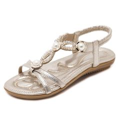 b7e602db73e Navoku Pearls Leather Women s Sandles Flat Sandal     Wonderful of you to  have dropped by to visit our photo.