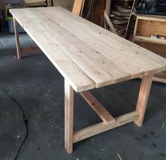 Beginner Farm Table (2 Tools + $50 Lumber) | Ana White Diy Outdoor Table, Diy Dining Table, Rustic Table, Patio Table, Wooden Tables, Dyi Kitchen Table, Antique Farm Table, Rustic Patio, Wood Patio