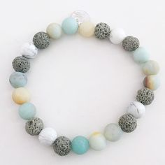 SEASIDE ESSENTIAL OIL DIFFUSER BRACELET LAVA BEAD ESSENTIAL OILS BRACELET $ 19.50