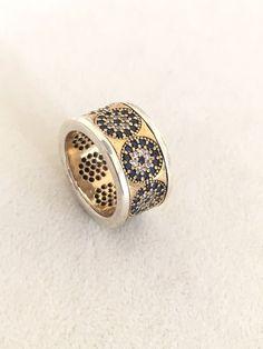 EvilEye!! Ottoman Turkish Handmade Sterling Silver Lapis & Topaz Ring!! Size 6  | eBay