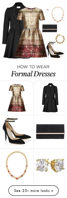 """""""Semi-Formal"""" by americanhorse on Polyvore featuring RED Valentino, Valentino, Jimmy Choo, Diamondsy and Kate Spade"""