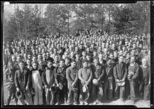 ノリス・ダム建設現場の労働者、TVAはルーズベルト大統領の進めるニューディール政策の一環だった-テネシー州 - Wikipedia