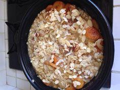 Tajine de poulet aux abricots et amandes - Recette de cuisine Marmiton : une recette