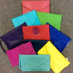 Getting ready for spring! Stunning colors in these envelope clutches
