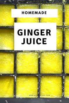 A simple DIY on how to juice ginger with and without a juicer - plus some idea on how to use this highly nutritious, superfood ginger juice and even save the pulp! Ginger Juice, Ginger Tea, Fresh Ginger, Green Smoothie Recipes, Healthy Smoothies, How To Store Ginger, Healthy Blender Recipes, Bread Replacement, Ginger Shot