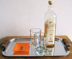 Vintage Metal Tray with Wood Handles by MarketHome on Etsy, $25.00