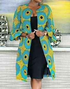 african print dresses African print or fabric jacket will be customised to your preference. It is made to all SIZES. Just give us the details. We do other clothing styles so just African Inspired Fashion, Latest African Fashion Dresses, African Dresses For Women, African Print Dresses, African Print Fashion, Africa Fashion, African Attire, African Clothes, Fashion Men