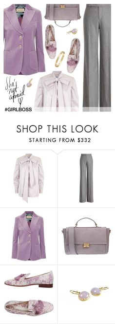 """""""Girl Boss (Tassel Loafers Contest)"""" by dixiebelle81 ❤ liked on Polyvore featuring Tory Burch, Ralph Lauren Collection, Gucci, Coccinelle, Santoni, Gabriella and Cartier"""