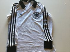 Maglia calcio germany adidas fussball trikot jersey vintage made in west germany