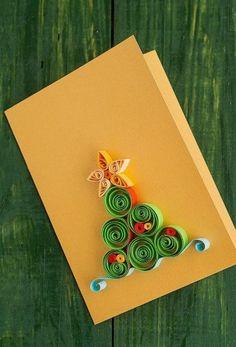 ▷ beautiful Christmas cards do you do - Quilling Paper Crafts Christmas Tree Paper Craft, Quilling Christmas, Xmas Crafts, Christmas Greeting Cards, Christmas Greetings, Bunny Crafts, Unicef Christmas Cards, Handmade Christmas, Paper Quilling Designs