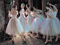 ballet oil painting