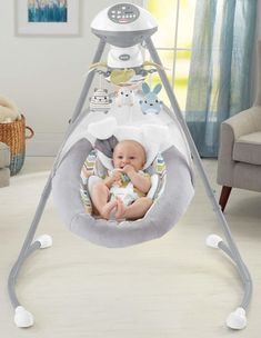 Machine-washable, plush seat pad with deluxe Sweet Snugapuppy Dreams body insert & head support. It's soft, snuggly, and oh-so-soothing—your baby will love snuggling in to the Fisher-Price Sweet Snugapuppy Dreams Cradle 'n Swing! Best Baby Bouncer, Baby Bouncer Swing, Baby Essential List, Baby Swings And Bouncers, Kids Swing, Fisher Price, Baby List, Baby Must Haves, Baby Supplies