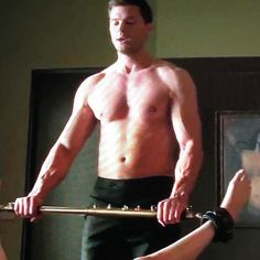 The spreader bar had to be made specially for the movie because no such thing existed 50 Shades Freed, 50 Shades Darker, Fifty Shades Of Grey, Christian Gray, Spreader Bar, Red Rooms, Quiver, Dakota Johnson, Christian Grey