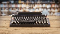 QWERKYWRITER | Typewriter-Inspired Wireless Mechanical Keyboard with Tablet Stand