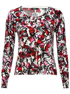 Graphic floral cardigan  £32.00