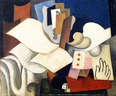 Roger de La Fresnaye (France 1885–1925) The Magician (1921-1922) oil on wood 46 x 55 cm Musée National d'Art Moderne de Paris