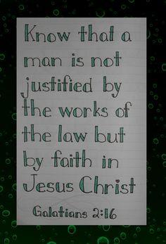Home Sweet Life: Galatians 2:16