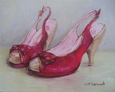 Listo para enmarcar Impresión - Red Shoes - franqueo incluido Worldwide