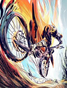 Mountain Biking Discover Love this Wesley Allsbrook illustration in Transworld Motocross Cycling Art, Cycling Quotes, Cycling Jerseys, Bob Marley Art, Mountain Biking Quotes, Bicycle Art, Bicycle Design, Downhill Bike, Bike Poster