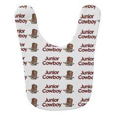 Junior Cowboy Baby Bib