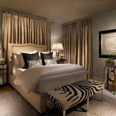 Bedroom Zebra Print Design, Pictures, Remodel, Decor and Ideas