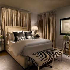 Bedroom Zebra Print Design