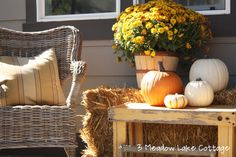 Fall Front Porch Decorating   Meadow Lake Road blog