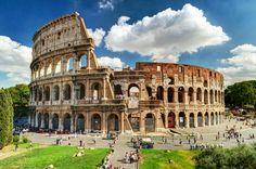 Coliseo Romano en Roma, Italia