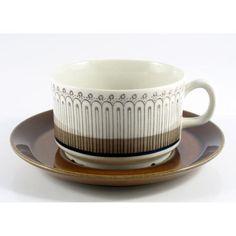 Arkad / Upsala-Ekeby(Gefle) Ceramic Cups, Ceramic Pottery, Fika, Espresso Cups, Ceramic Design, Coffee Set, Plate Sets, Cup And Saucer, Tea Pots