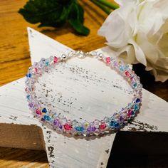 made by Swarovski® crystal components Swarovski Crystals, Bracelets, Color, Jewelry, Jewlery, Jewerly, Colour, Schmuck, Jewels