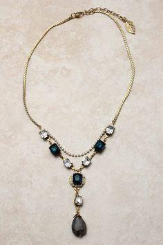 Sapphire Crystal Illume Necklace   Emma Stine Jewelry Necklaces