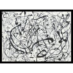 "Amanti Art ""No. 14: Gray"" by Jackson Pollock Framed Painting Print   AllModern"